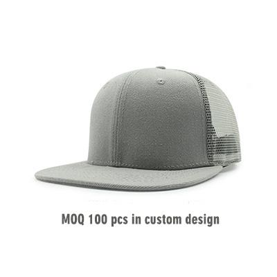 ca752514 Custom Plain Flat Bill Mesh Snapback Hats